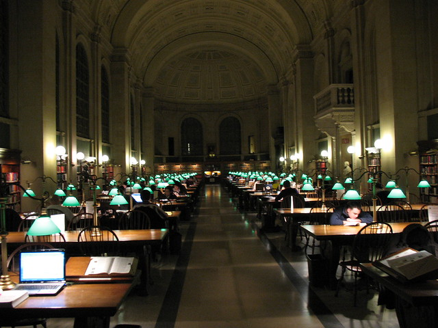 Reading Room, Central Library in Copley Square