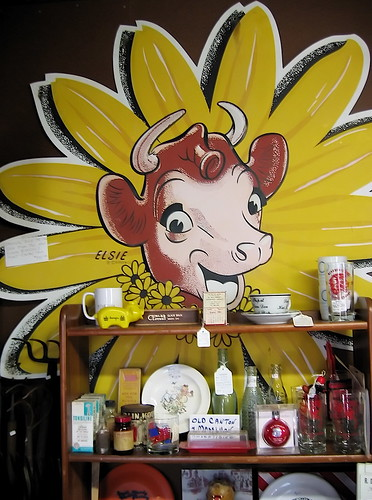 Elsie The Cow sign in a Lincoln Highway shop. Photo copyright Jen Baker/Liberty Images.