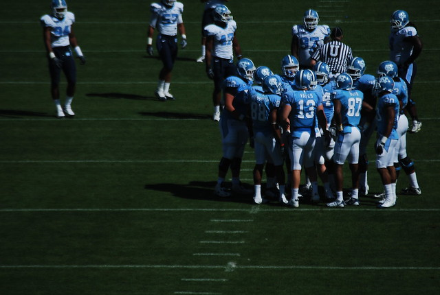 football: unc spring game