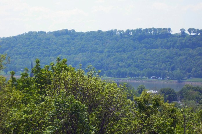 The Ohio River from the Michigan Road