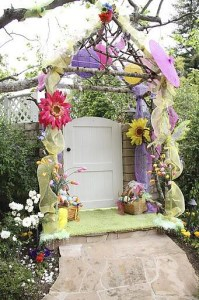 natural wood arch for easter