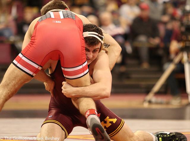 157 #8 Jake Short (Minnesota) fall Anthony DeCarlo (Ohio State) 1:34