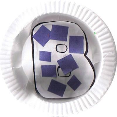Аппликация на тарелке