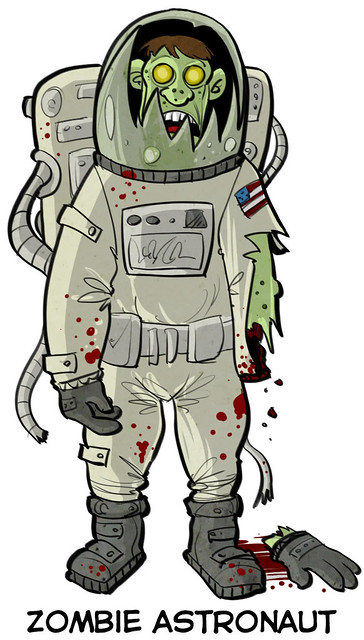 Zombie Astronaut Flickr Photo Sharing