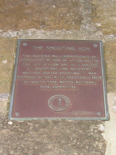 Roseberry Topping Shooting Box Plaque
