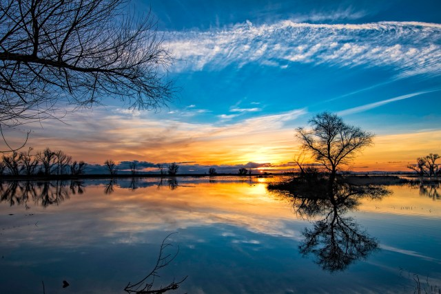 Merced National Wildlife Refuge Sunset