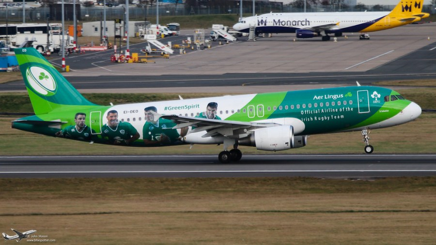 <p>'Greenspirit' special Irish rugby scheme taking off from Birimingham</p>