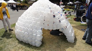 Maker Faire Plastic Jug Igloo
