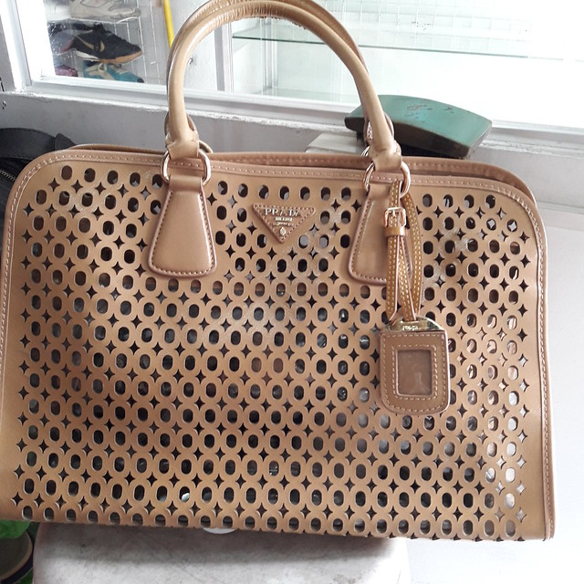 fake perforated Prada bag