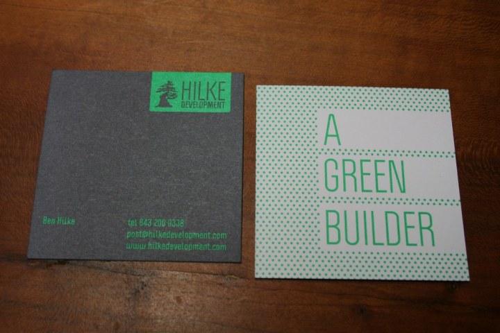 Hilke Development Business Cards