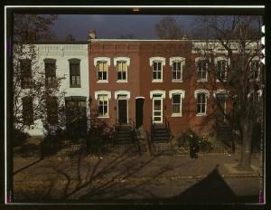 [Row houses, corner of N and Union Streets S.W., Washington, D.C.] (LOC)