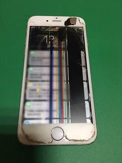 263_iPhone6のフロントパネル液晶割れ