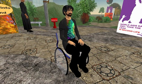 Second Life: Healthinfo Island: World AIDS Day 2007 - Wheelchair