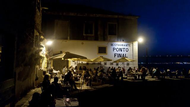 Even in Lissabon,bij Restaurante Ponto Final