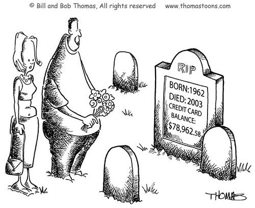 Credit Card Tombstone