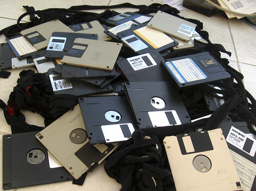 floppy disks for breakfast by Blude, on Flickr