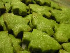 Green tea christmas trees