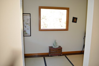 Meditation room with tatami mats