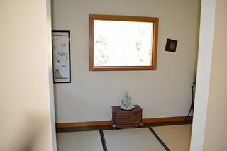 Meditation room with tatami mats