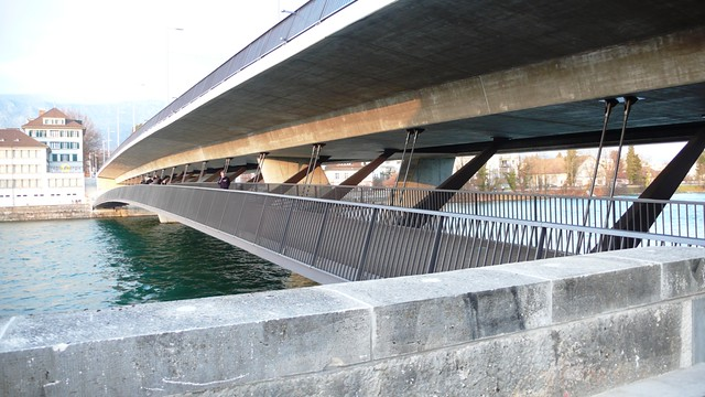 New footbridge by the Röti bridge in Solothurn