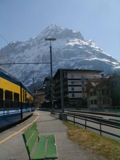 Train in the Alps