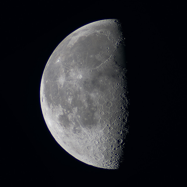 a Last Quarter Moon is seen in the sky