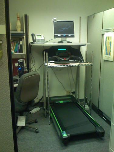 Treadmill workstation view 2