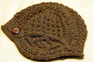Mink Helmet Hat Detail