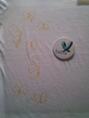 Camiseta Pintada a mano. by alialba