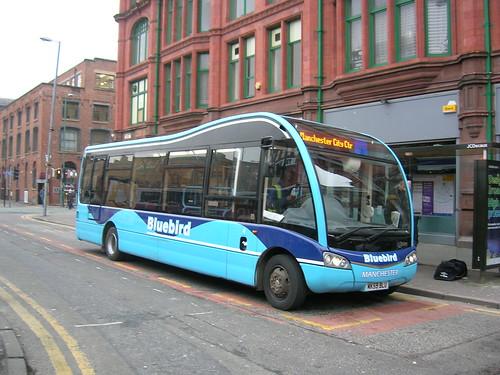 Optare Solo SR M890, MK59 BLU, Stevenson Square, Manchester, Bluebird Bus and Coach