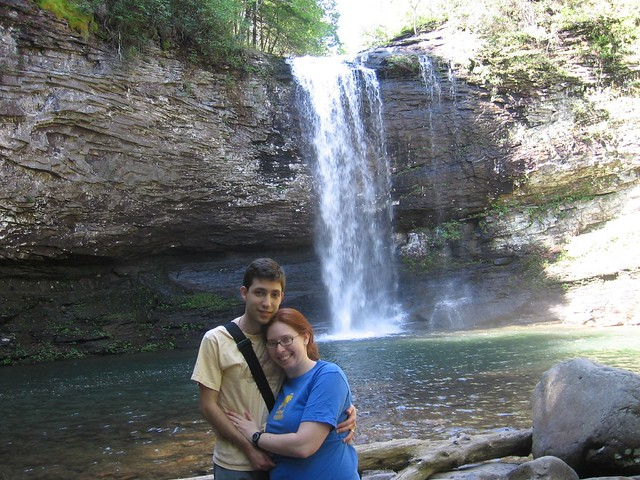 Paul and I in front of one of the falls