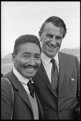 Sir Edmund Hillary and Sherpa Tensing Norgay in Wellington, 1971