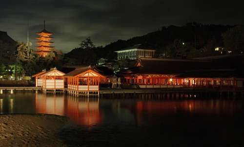 Itsukushima Shrine by Night, Miyajima