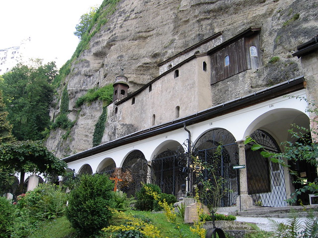 Early Christian catacombs, carved out in Festungsberg's sheer rock face