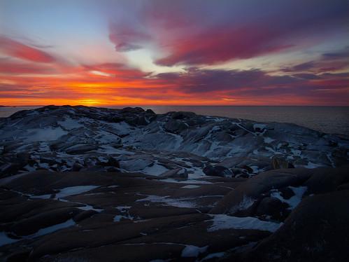 Sunrise at Peggy's Cove