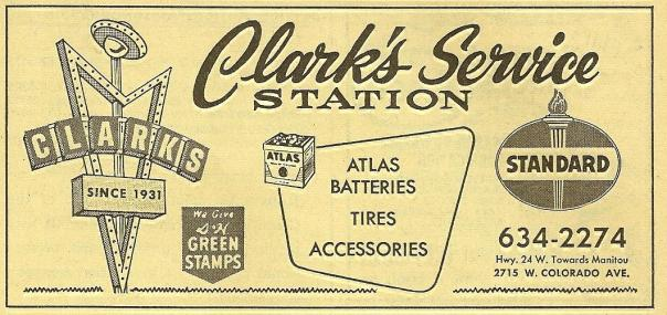 Clark's Service Station - 2715 West Colorado Avenue, Colorado Springs, Colorado U.S.A. - 1967