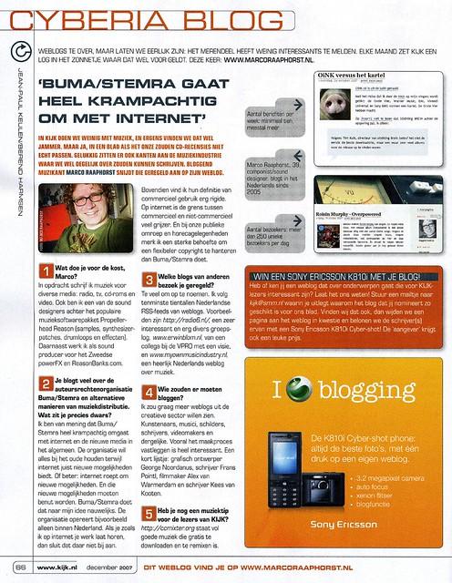 Interview KIJK (nr 12, 2007)