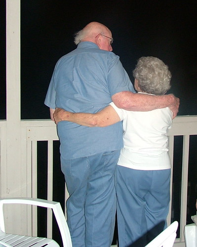 Mom and Dad on balcony at beach