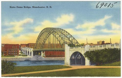 Notre Dame Bridge marching through the Millyard toward Elm St.