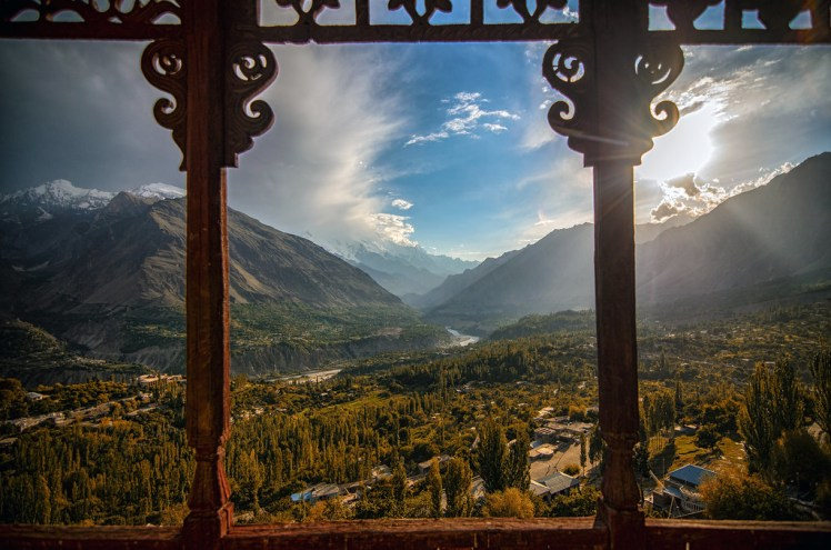 the Royal Balcony.... Baltit Fort Hunza