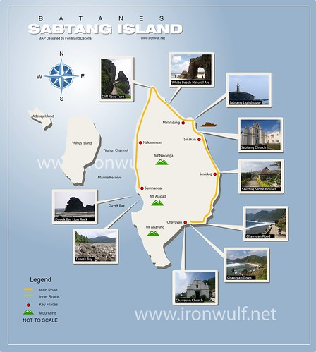 Batanes Sabtang Island Map