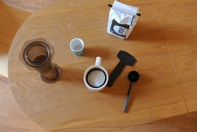 Aeropress from above