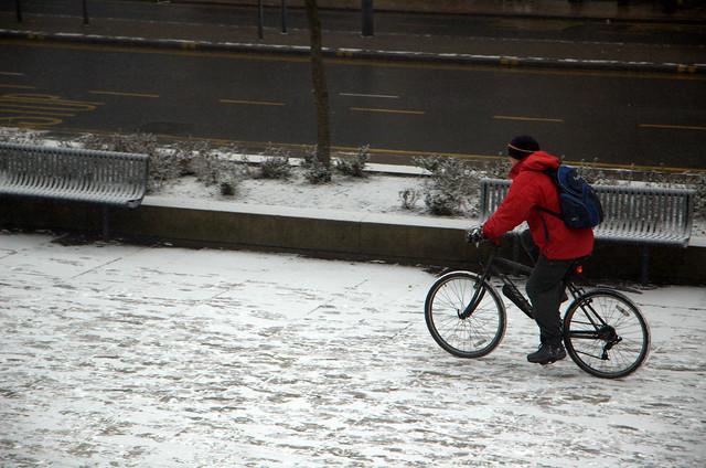 Chap on bike