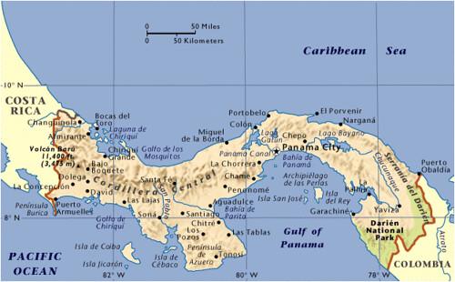 Panama Map 2