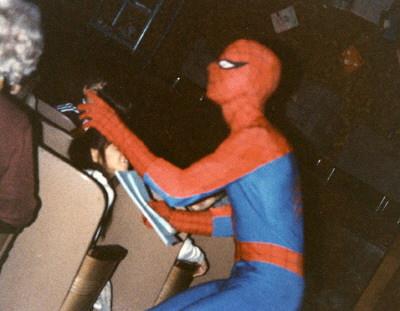Spiderman at PARP Ceremony