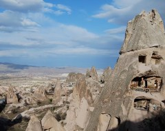 "Cappadocia ""Condos"" carved in the volcanic formations"