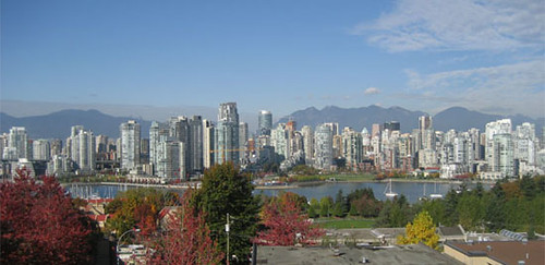Vancouver Skyline from the Fairview Slopes