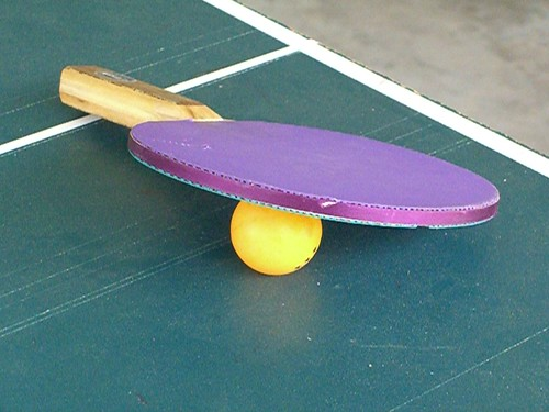 Purple Ping Pong Paddle