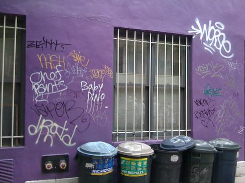 Graffiti on Purple Wall by DRheins