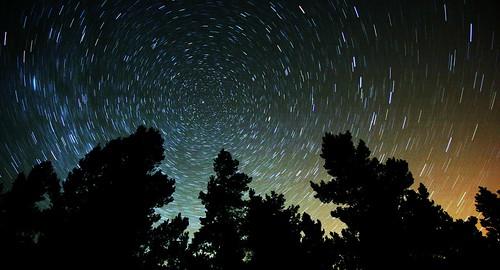 Star Trails over Bennachie